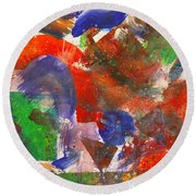 Abstract - Acrylic - Synthesis Round Beach Towel