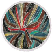 Abstract Art Sixteen Round Beach Towel