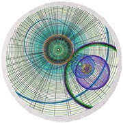 Abstract Circle Art Round Beach Towel