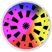 Abstract Color Forms Round Beach Towel