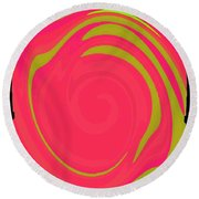Abstract Color Merge Round Beach Towel