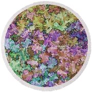 Abstract Colors Pale Round Beach Towel
