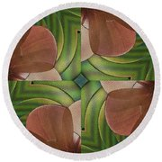 Abstract Curves Round Beach Towel