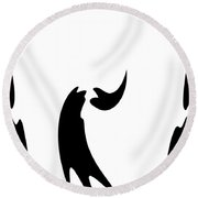Abstract Dance Round Beach Towel