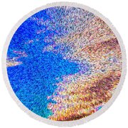 Abstract Dimensional Art Round Beach Towel