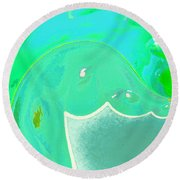 Abstract Down By The Sea  Round Beach Towel
