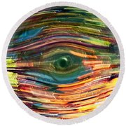 Abstract Eye Round Beach Towel