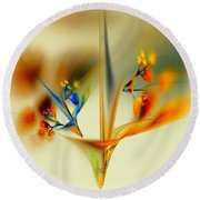 Abstract Flower 2 Round Beach Towel