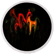 Abstract Fractals Melting 2 Round Beach Towel
