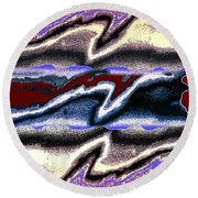 Abstract Fusion 101 Round Beach Towel