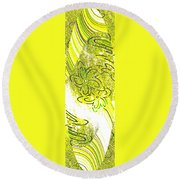 Abstract Fusion 107 Round Beach Towel