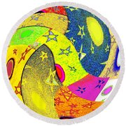 Abstract Fusion 110 Round Beach Towel