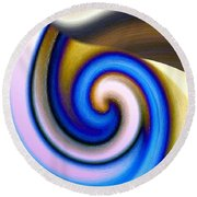 Abstract Fusion 114 Round Beach Towel by Will Borden