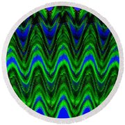 Abstract Fusion 125 Round Beach Towel