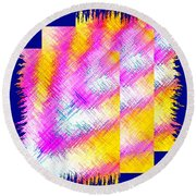 Abstract Fusion 127 Round Beach Towel