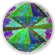 Abstract Fusion 129 Round Beach Towel