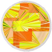 Abstract Fusion 14 Round Beach Towel