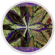 Abstract Fusion 145 Round Beach Towel