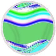Abstract Fusion 146 Round Beach Towel
