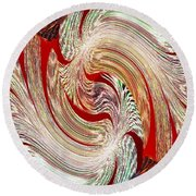 Abstract Fusion 148 Round Beach Towel