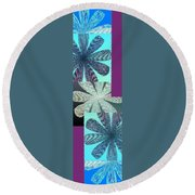 Abstract Fusion 149 Round Beach Towel