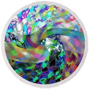 Abstract Fusion 15 Round Beach Towel