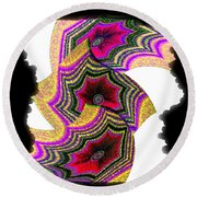 Abstract Fusion 154 Round Beach Towel
