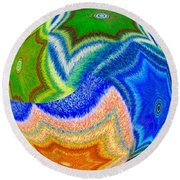 Abstract Fusion 155 Round Beach Towel