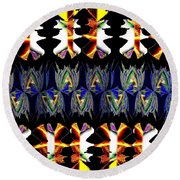 Abstract Fusion 156  Round Beach Towel