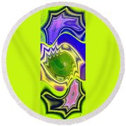 Abstract Fusion 157 Round Beach Towel