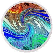 Abstract Fusion 159 Round Beach Towel