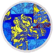 Abstract Fusion 22 Round Beach Towel
