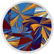 Abstract Fusion 34 Round Beach Towel