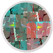 Abstract Fusion 39 Round Beach Towel