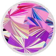 Abstract Fusion 41 Round Beach Towel