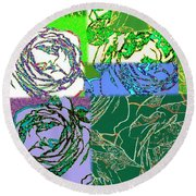 Abstract Fusion 42 Round Beach Towel