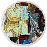 Abstract Fusion 45 Round Beach Towel