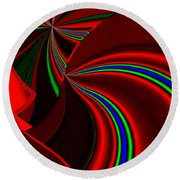 Abstract Fusion 49 Round Beach Towel