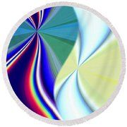 Abstract Fusion 50 Round Beach Towel