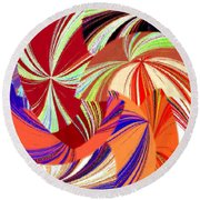 Abstract Fusion 56 Round Beach Towel
