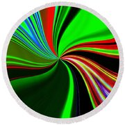 Abstract Fusion 57 Round Beach Towel