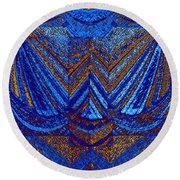 Abstract Fusion 59 Round Beach Towel