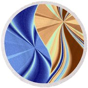 Abstract Fusion 66 Round Beach Towel