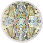Abstract Fusion 67 Round Beach Towel
