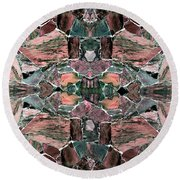 Abstract Fusion 68 Round Beach Towel