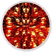 Abstract Fusion 76 Round Beach Towel