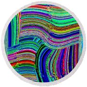 Abstract Fusion 78 Round Beach Towel