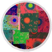 Abstract Fusion 79 Round Beach Towel