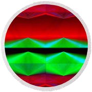Abstract Fusion 83 Round Beach Towel
