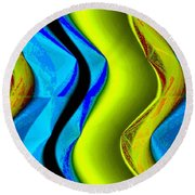 Abstract Fusion 85 Round Beach Towel